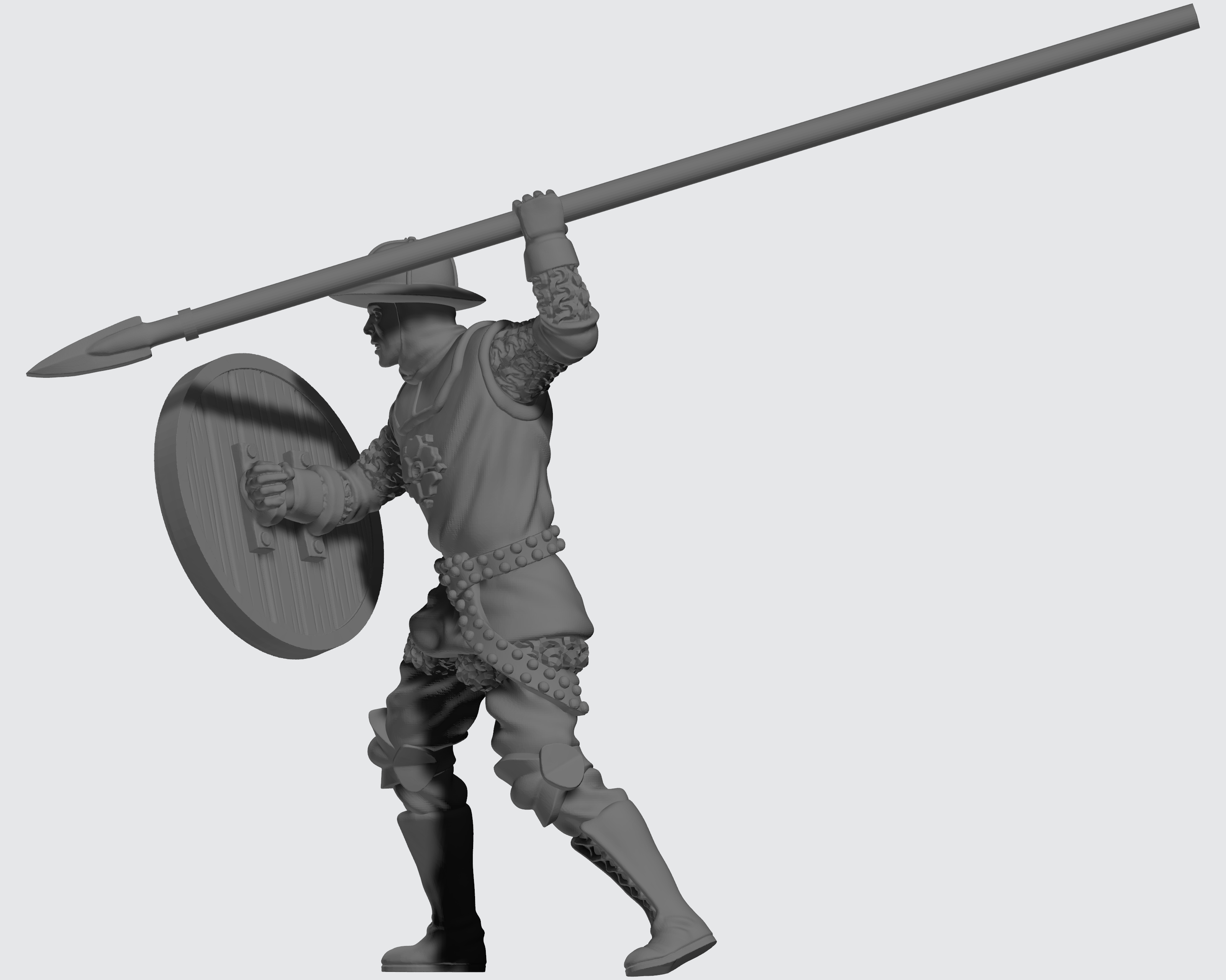 Kingdom of Celesia Group Unit - Pikemen - Pikeman 1 Sculpt