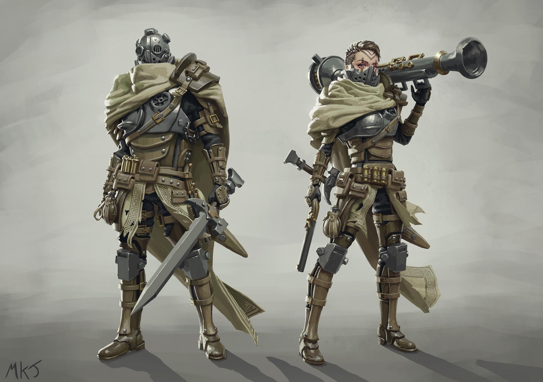 Ithican Empire Individual Unit - Praetorian Pilot - Concept Art