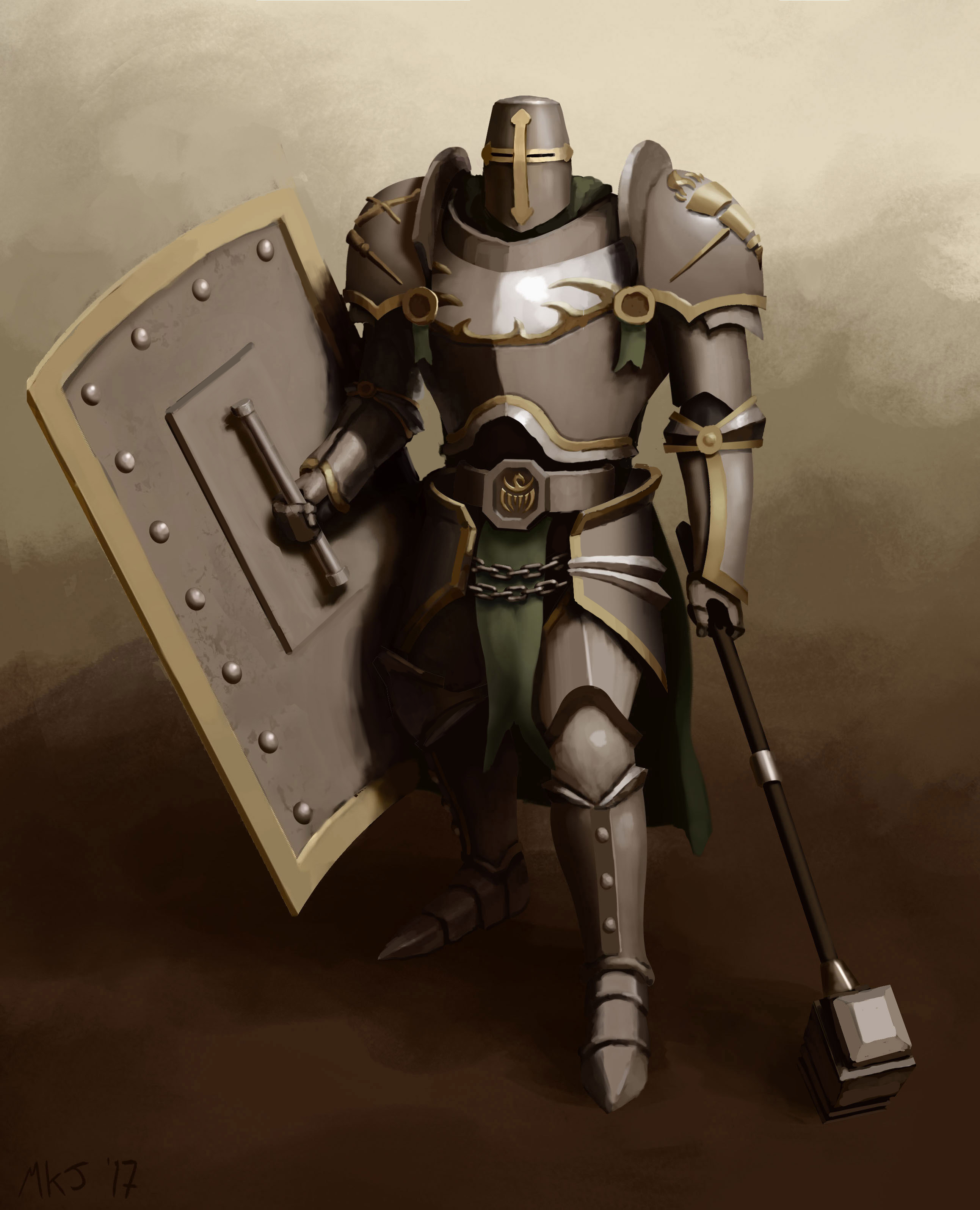 Knights of the Field Character Praetorian - Faith's Hammer - Concept Art