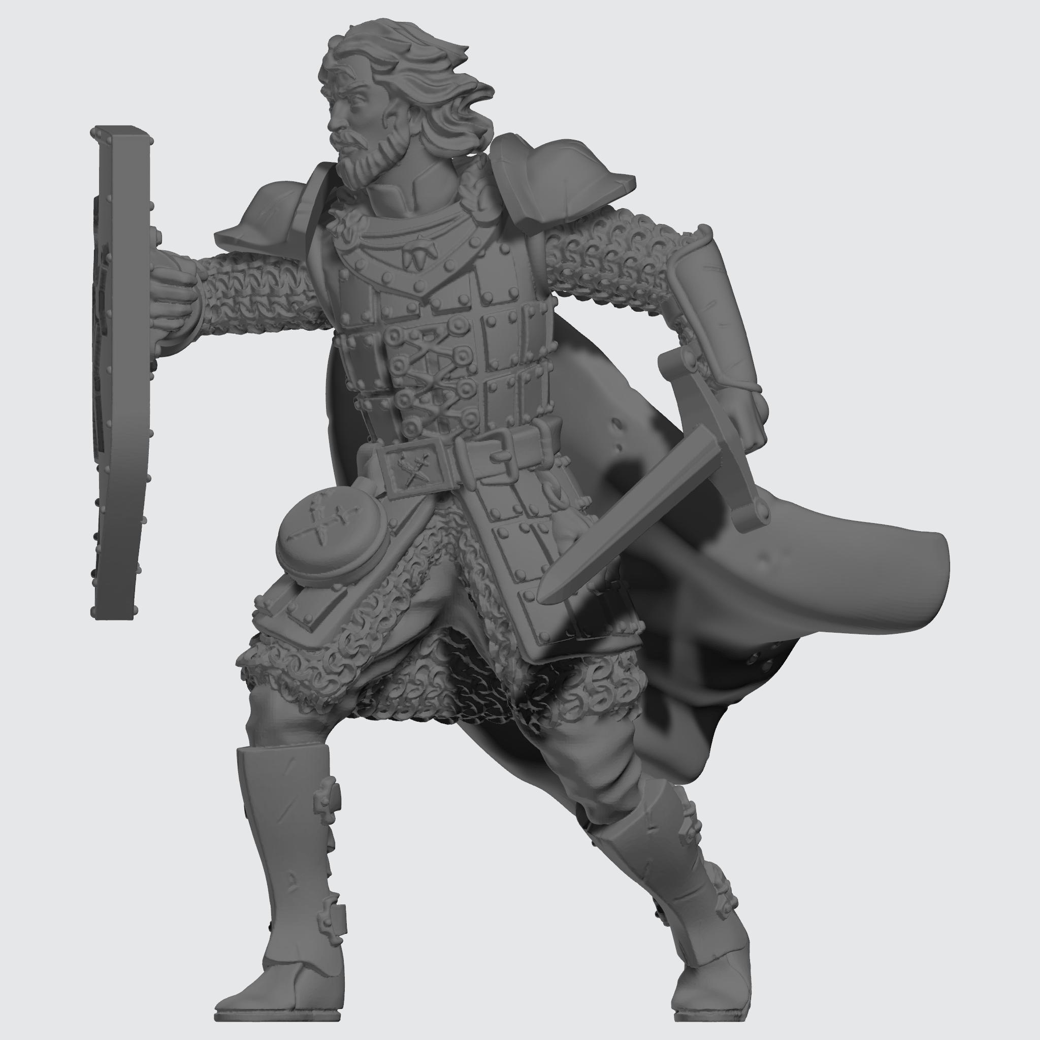 Knights of the Field Individual Unit - Company Knight - Male Sculpt