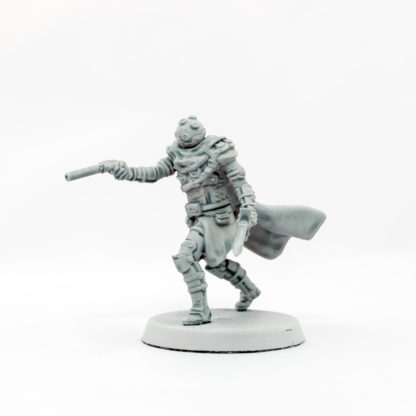 A side view of the Ithican Imperial Pilot painted using contrast paint to showcase its details.
