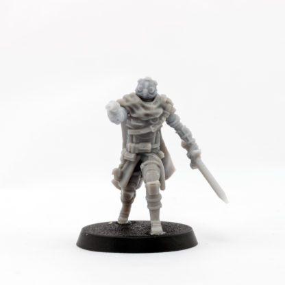A front view of the Ithican Imperial Pilot assembled in plain resin.