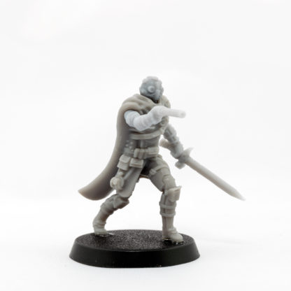 An oblique view of the Ithican Imperial Pilot assembled in plain resin.